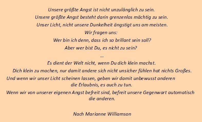 Einzigartigkeit: Marianne Williamson: Lass Dein Licht scheinen